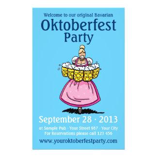 Cerveza de la camarera del Dirndl del fiesta de Ok Flyer A Todo Color