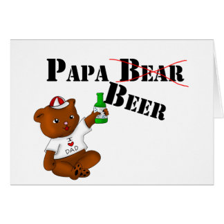 Cerveza de la papá tarjeta de felicitación