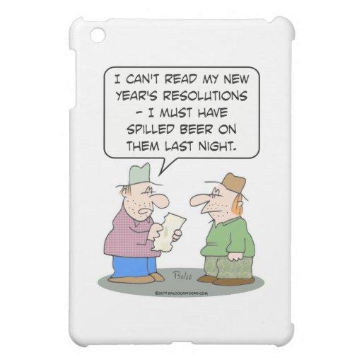 Cerveza de las resoluciones del Año Nuevo derramad