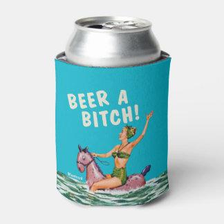 Cerveza de las señoras u o chaqueta o refrigerador enfriador de latas