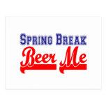 Cerveza de las vacaciones de primavera yo (fiesta  postal