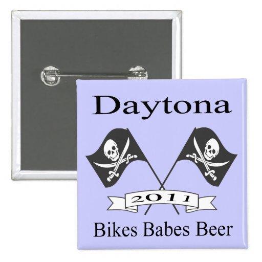 Cerveza de los bebés de las bicis pin cuadrada 5 cm