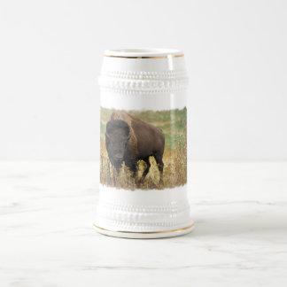 Cerveza de madera Stein del bisonte Taza De Café