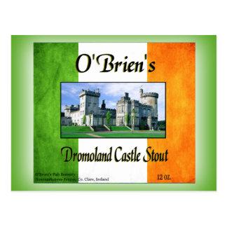 Cerveza de malta del castillo de Dromoland de O'Br Tarjeta Postal