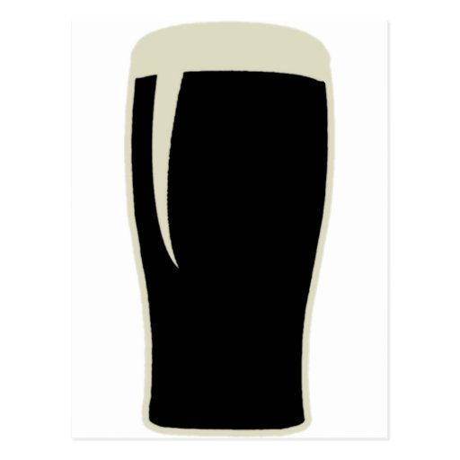 Cerveza de malta del o de la pinta tarjeta postal