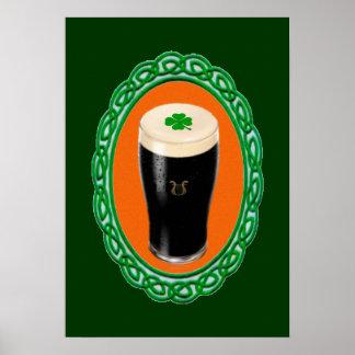 Cerveza de malta irlandesa poster