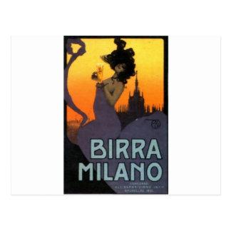 Cerveza de Milano por Raphael Kirchner Tarjetas Postales