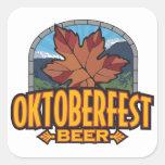 Cerveza de Oktoberfest Calcomanías Cuadradas Personalizadas