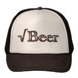 Cerveza de raíz cuadrada gorras de camionero