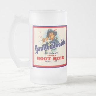 Cerveza de raíz del Doodle del yanqui de la public Taza Cristal Mate