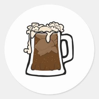 Cerveza de raíz etiquetas redondas