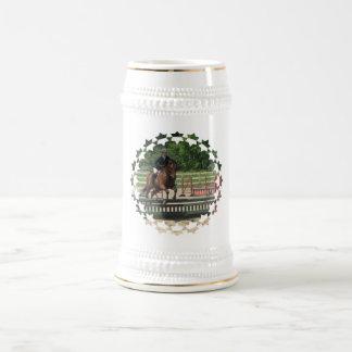 Cerveza de salto Stein del caballo del cazador Jarra De Cerveza
