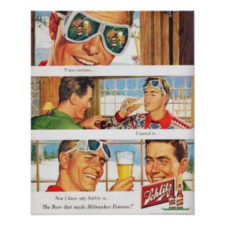Cerveza de Schlilz del esquí de los deportes de in Póster