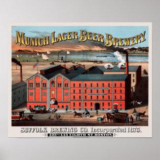 Cerveza de Suffolk Poster
