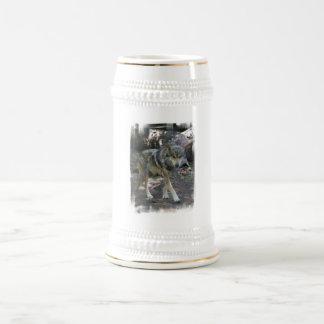 Cerveza de vagabundeo Stein del lobo Jarra De Cerveza