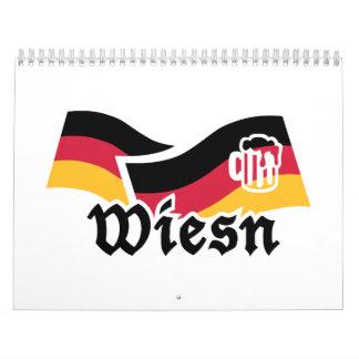 Cerveza de Wiesn Oktoberfest Alemania Calendarios