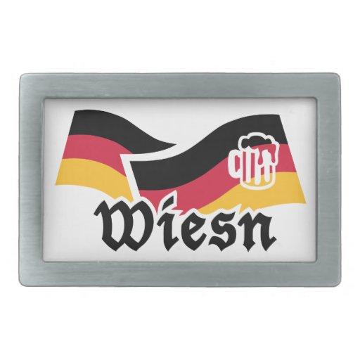 Cerveza de Wiesn Oktoberfest Alemania Hebilla Cinturon