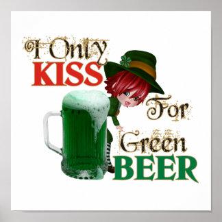 Cerveza del beso 4 - St Patrick Poster