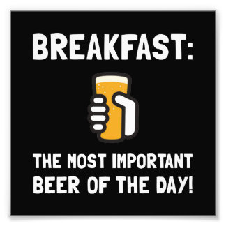 Cerveza del desayuno fotografía