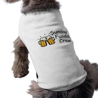 Cerveza del equipo de domingo Funday Playera Sin Mangas Para Perro