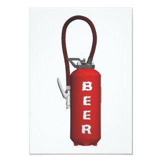 """Cerveza del extintor de la sed invitación 3.5"""" x 5"""""""
