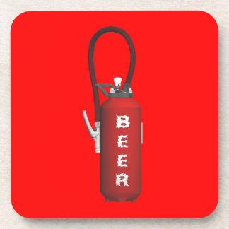 Cerveza del extintor de la sed posavasos de bebidas