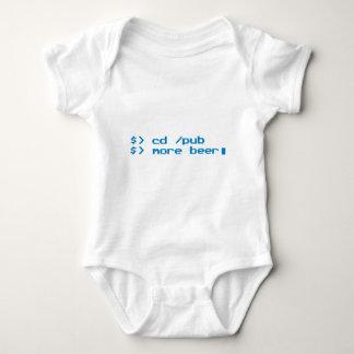 Cerveza del friki del programador mameluco de bebé