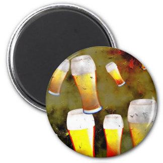 Cerveza del Grunge Iman Para Frigorífico