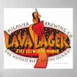 Cerveza del Hawaiian de la cerveza dorada de la la Posters