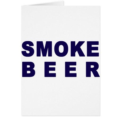 cerveza del humo tarjetas