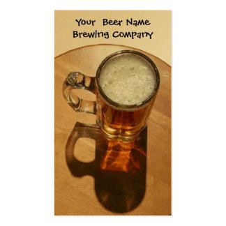 Cerveza del U-Brew en taza Tarjetas De Visita
