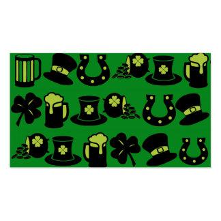 Cerveza del verde de la mina de oro del trébol del tarjeta de visita