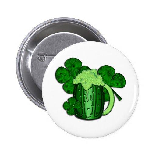 Cerveza del verde del día de San Patricio Pins