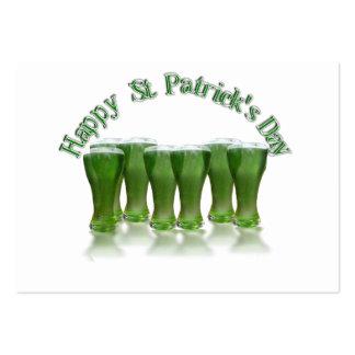 Cerveza del verde del día de St Patrick feliz Tarjetas De Visita Grandes