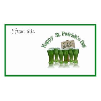 ¡Cerveza del verde del día de St Patrick para un Tarjetas De Visita