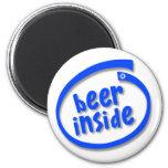 Cerveza dentro imán para frigorifico