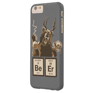 Cerveza descubierta oso divertido de la química funda de iPhone 6 plus barely there