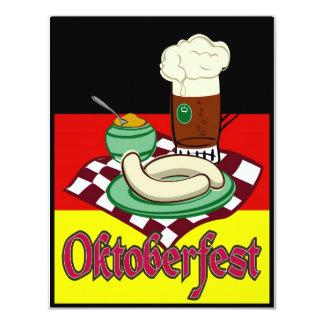 Cerveza Deutschland de Oktoberfest Alemania Invitación 10,8 X 13,9 Cm