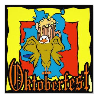 Cerveza Deutschland de Oktoberfest Alemania Invitación 13,3 Cm X 13,3cm