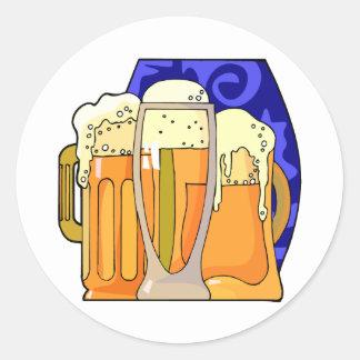 Cerveza día 7 de abril nacional pegatina redonda