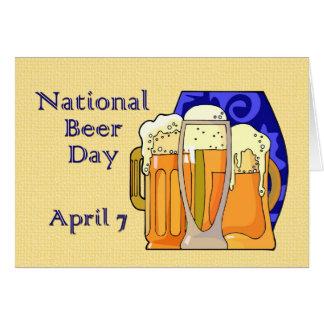 Cerveza día 7 de abril nacional tarjeta de felicitación
