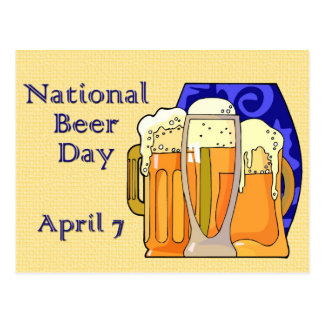 Cerveza día 7 de abril nacional tarjetas postales