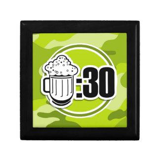 Cerveza divertida: 30, camo verde claro, camuflaje cajas de joyas