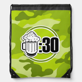 Cerveza divertida: 30, camo verde claro, camuflaje mochilas