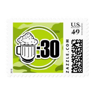 Cerveza divertida: 30, camo verde claro, camuflaje sellos