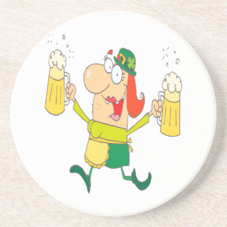 cerveza divertida de la porción de la señora del l posavasos para bebidas