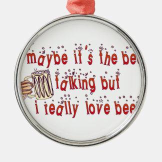 Cerveza divertida del amor ornato