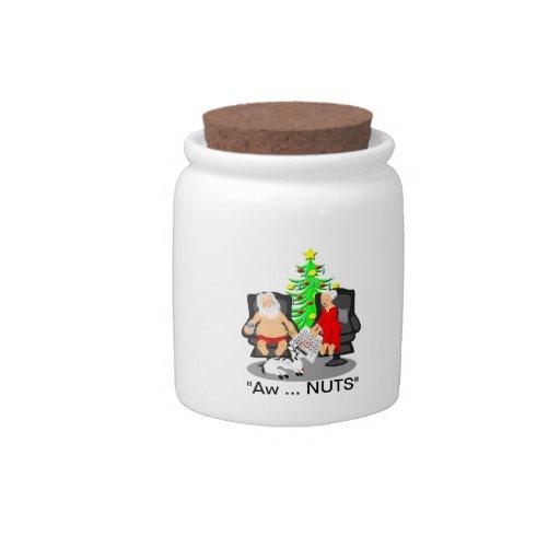 Cerveza divertida del navidad que bebe a Papá Noel Plato Para Caramelo