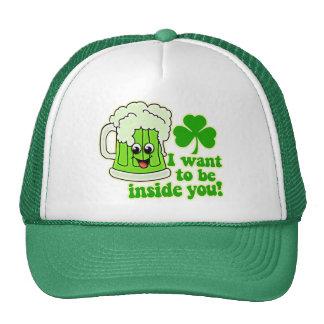 Cerveza divertida del verde del día del St Patrick Gorros Bordados