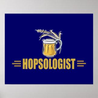 Cerveza divertida póster
